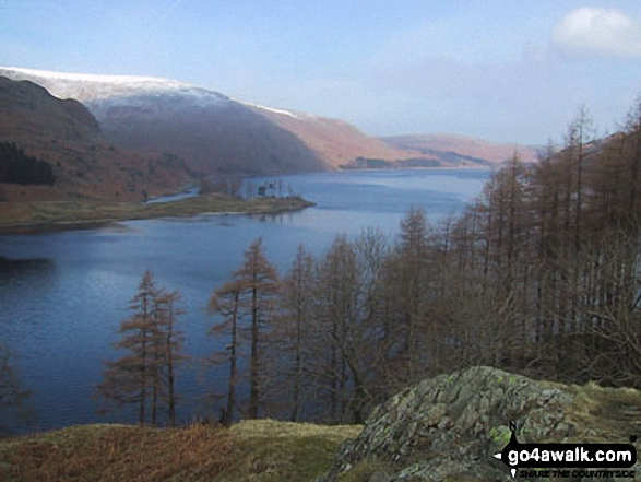 Haweswater Reservoir from The Rigg. Walk route map c251 The Mardale Head Horizon from Mardale Head photo
