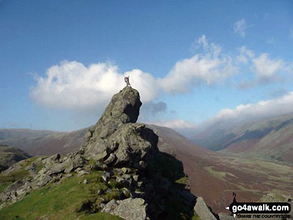 This is me on top of Helm Crag above Grasmere
