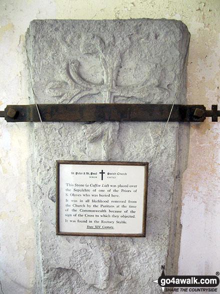 Coffin Lid/Stone in Burgh Castle church