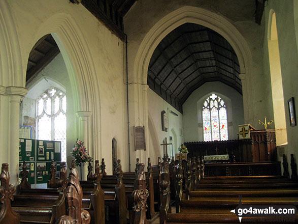 Walk nf115 Breydon Water from Burgh Castle - Inside Burgh Castle church
