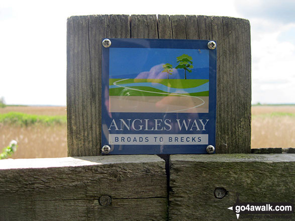 The Angles Way near Burgh Castle