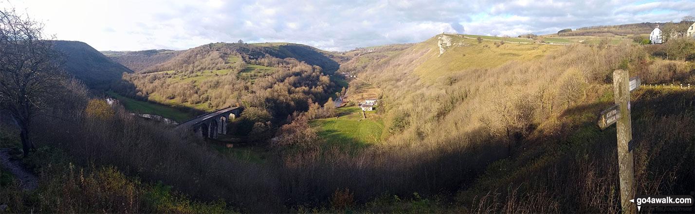 Monsal Dale, Monsal Viaduct and Upperdale from Monsal Head
