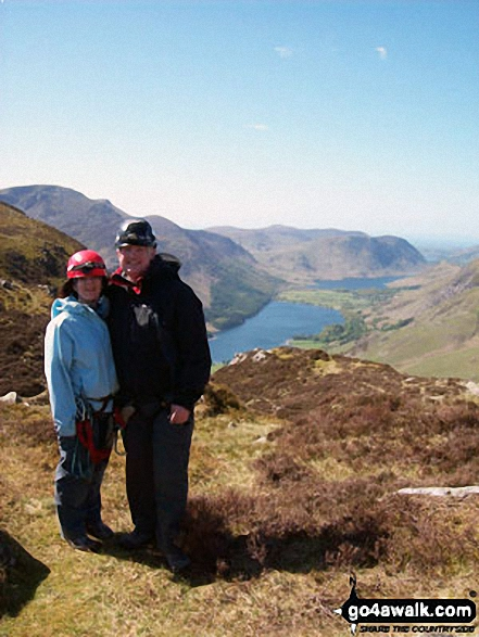 My husband Paul and I on top of Fleetwith Pike