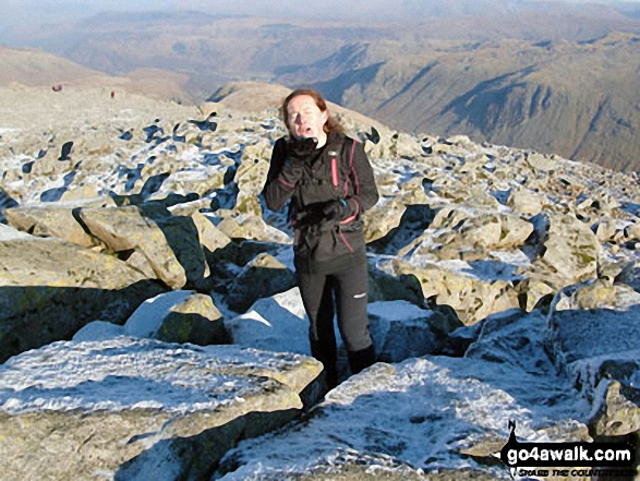 Me on Great Gable. Walk route map c141 Great Gable and Pillar from Wasdale Head, Wast Water photo