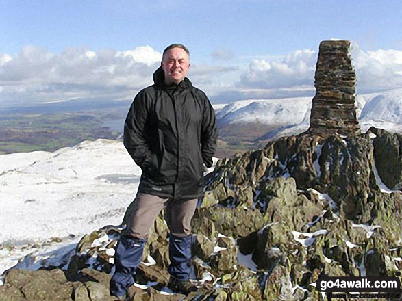Me on top of Place Fell with Ullswater in the background