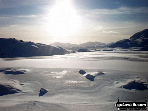 Stickle Tarn under a blanket of snow