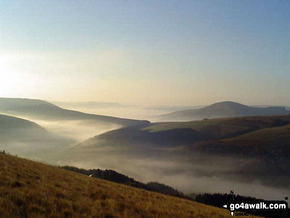 Temperature inversion in the Upper Derwent Valley seen from Rowlee Pasture