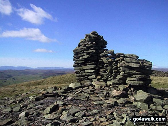 Walk Whinfell Beacon walking UK Mountains in The Far Eastern Marches The Lake District National Park Cumbria    England