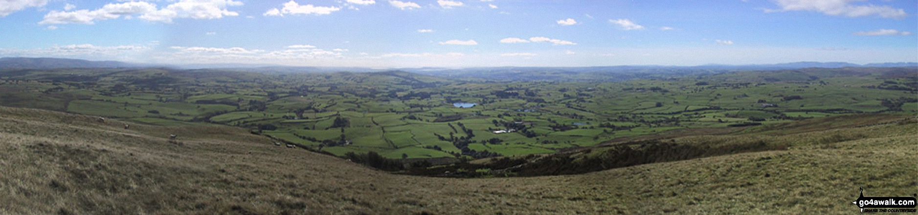*Kendal and Morecambe Bay from Whinfell Beacon