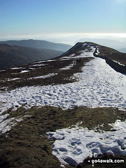 High Pike from Dove Crag. Walk route map c247 The Fairfield Horseshoe from Ambleside photo