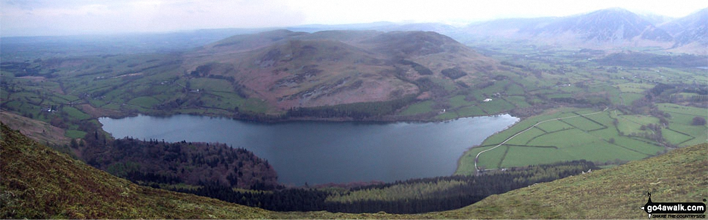 Loweswater from the cairn on the North West end of the Carling Knott ridge