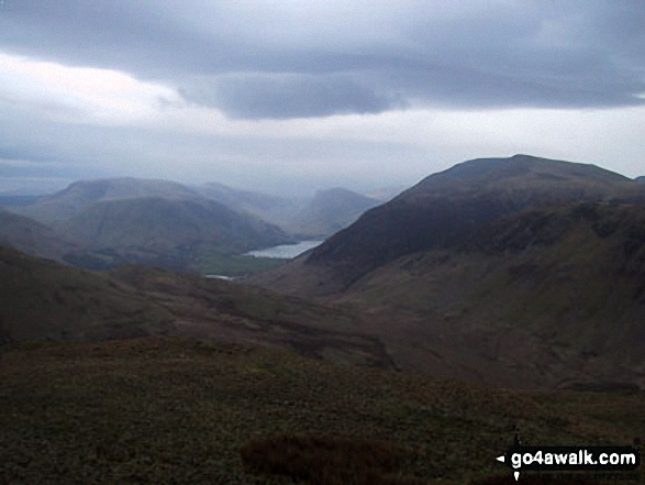Robinson (left), Buttermere and Red Pike (Buttermere) from Hen Comb