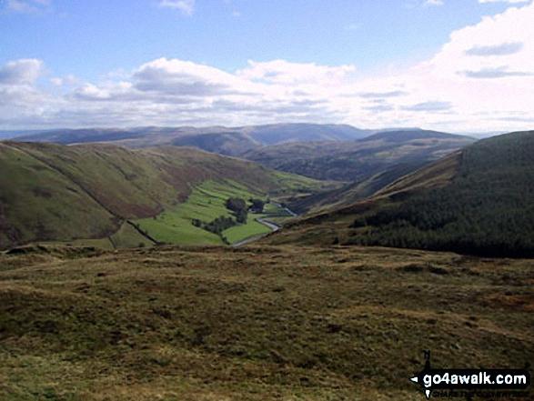 SE into Borrowdale from Mabbin Crag