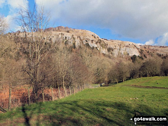 Whitbarrow Scar from Witherslack Hall School