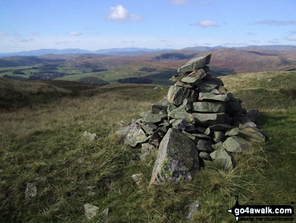 Walk Castle Fell walking UK Mountains in The Far Eastern Marches The Lake District National Park Cumbria    England