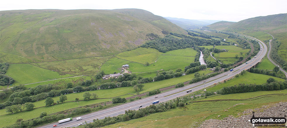 Blease Fell and the M6 Motorway from Jeffrey's Mount
