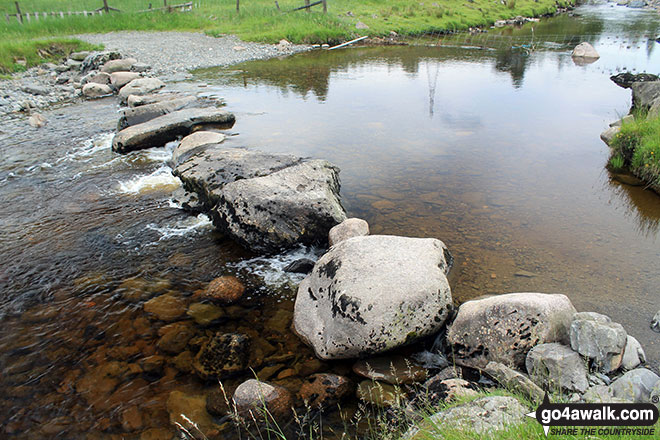Steeping Stones across Borrow Beck in Borrowdale