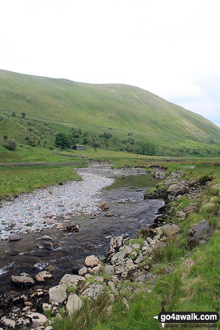 Winterscleugh from Borrowdale (Borrow Beck)