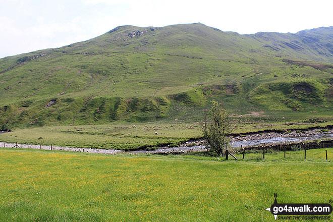 Mabbin Crag from High Borrowdale Farm