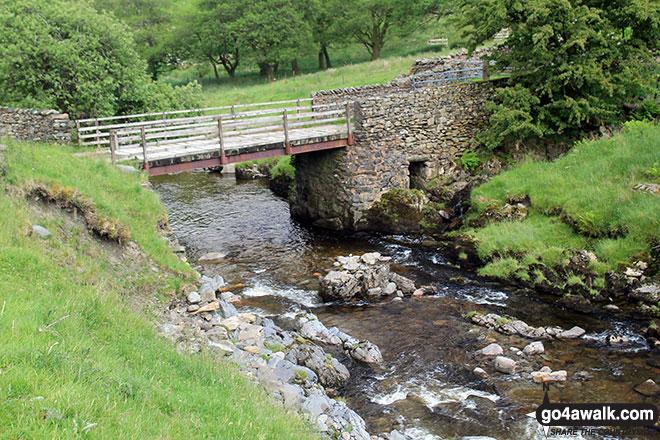 The bridge over Borrow Beck in Borrowdale