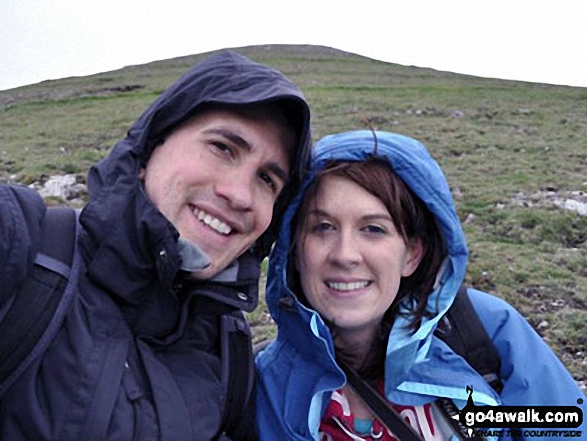 Me and Karl on a windy Thorpe Cloud above Dove Dale