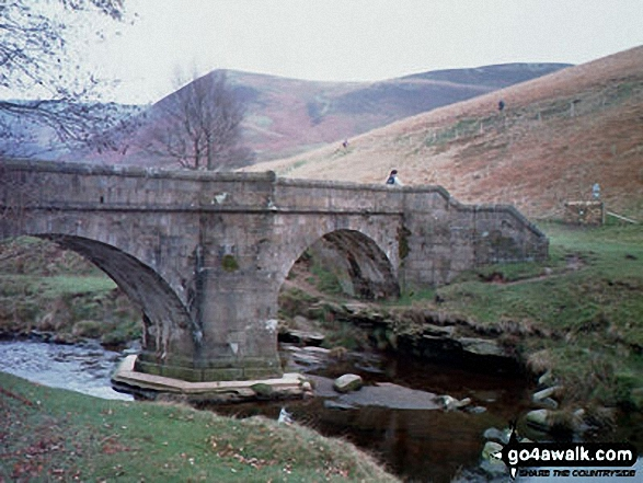 Packhorse Bridge at the North end of Howden Reservoir