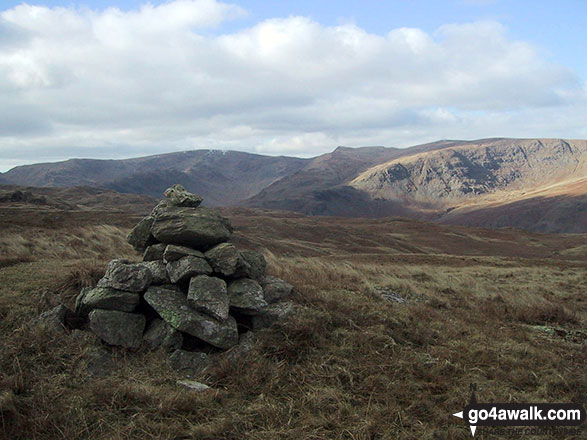 Cairn marking the high point on the Old Corpse Road (Haweswater)