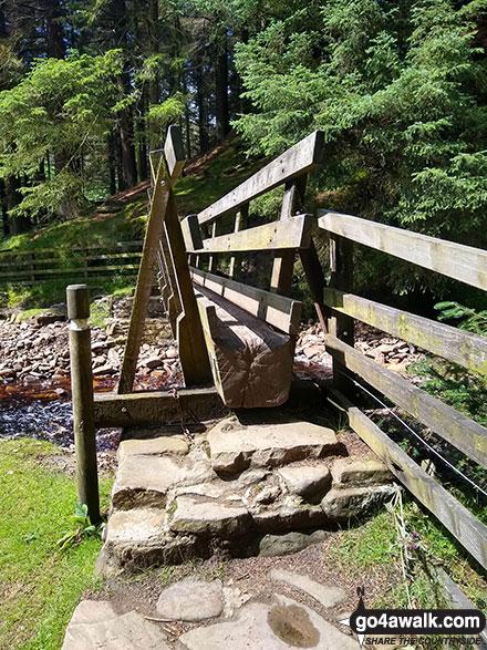 Footbridge over the River Ashop