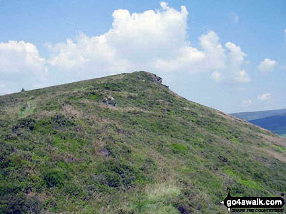 Lantern Pike. Walk route map d171 Lantern Pike and Cown Edge Rocks from Hayfield photo