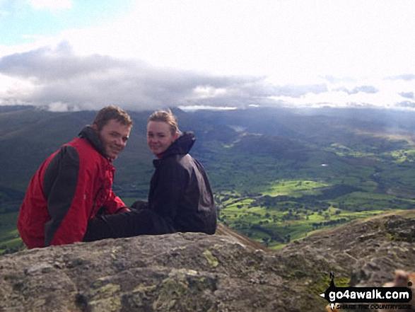 My girlfriend and I on Blencathra walk The Lake District Cumbria England walks