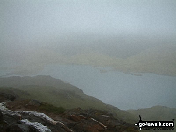 Llyn Llydaw from the Pyg Track. Walk route map gw198 The Welsh 3000's (Snowdon Area) from Pen y Pass photo
