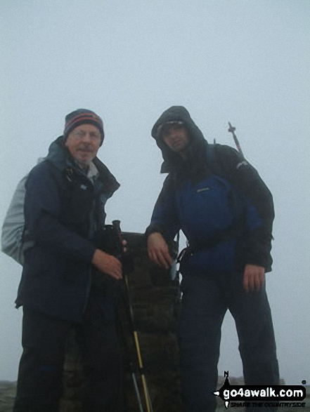 Snowdon (Yr Wyddfa) Summit. Walk route map gw107 Snowdon and Yr Aran from Rhyd Ddu photo