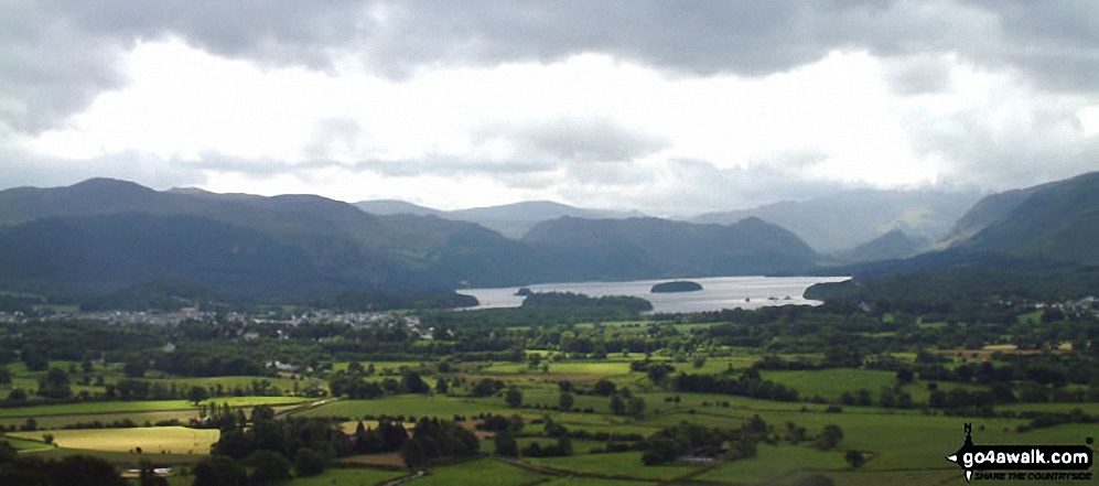 *Keswick, Derwent Water and Borrowdale from Doups