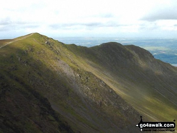 Ullock Pike and Longside Edge from Skiddaw. Walk route map c186 Lonscale Fell and Skiddaw from Gale Road (Underscar) nr Keswick photo