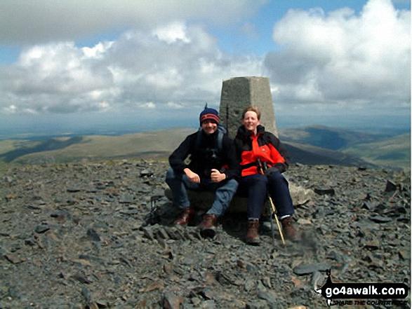 Skiddaw summit. Walk route map c236 Skiddaw from Millbeck, nr Keswick photo