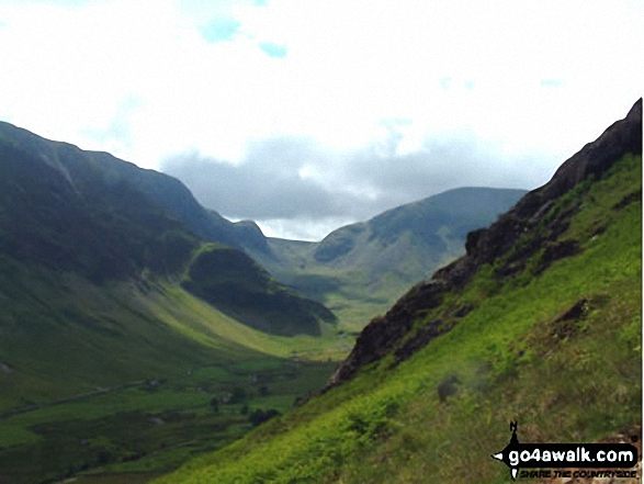 Walk c100 The Newlands Horseshoe from Hawes End - The Newlands Valley from Scope End