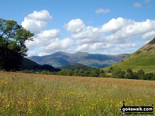 Walk c100 The Newlands Horseshoe from Hawes End - Skiddaw from The Newlands Valley