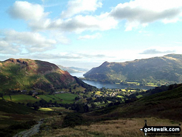 Ullswater and Glenridding from the lower slopes of Birkhouse Moor