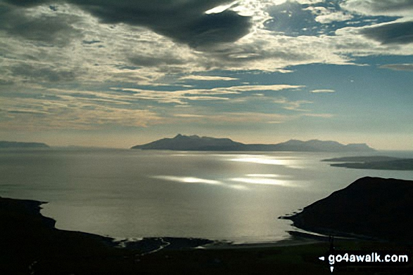 Isle of Rum from Bla Bheinn (Blaven)