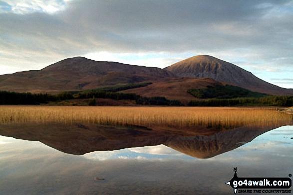 Red Cuillin from across Loch Chrioso