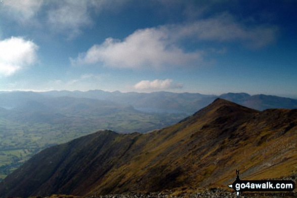 Sharp Edge, Blencathra or Saddleback (Hallsfell Top) from Bannerdale Crags