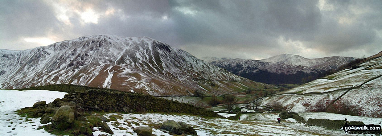Walk c128 The Hayswater Round from Hartsop - *Snow on Gray Crag (Hayeswater) from High Street