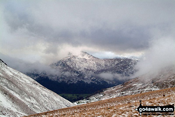Snow on St Sunday Crag from Gray Crag (Hayeswater)