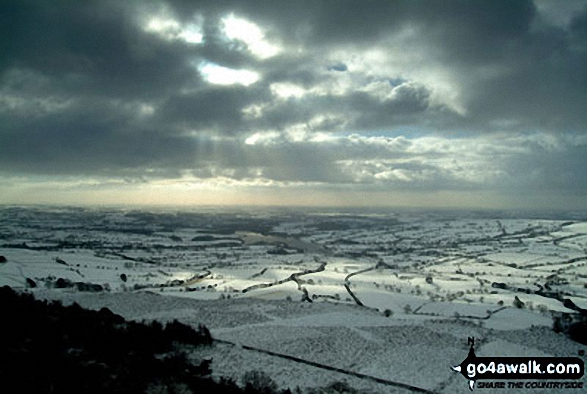 Snow on Tithesworth Reservoir from The Roaches