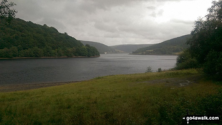 Ladybower Reservoir from Wiseman Hey Clough Woods