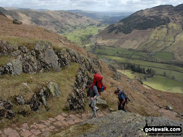 Walk c225 The Langdale Pikes via Jack's Rake from The New Dungeon Ghyll, Great Langdale - The Mountain Rescue climbing Stickle Ghyll near Stickle Tarn The Langdale Pikes, Great Langdale