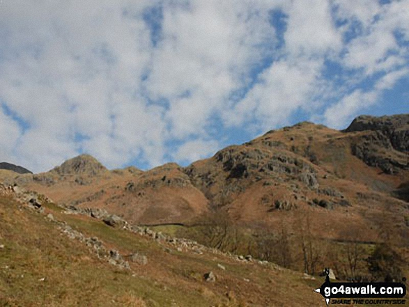 Walk c225 The Langdale Pikes via Jack's Rake from The New Dungeon Ghyll, Great Langdale - The Langdale Pikes, Great Langdale