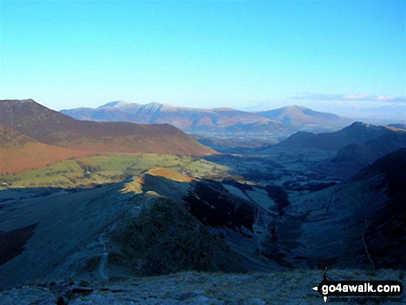 Skiddaw (left) and Blencathra (right) from the slopes of Robinson