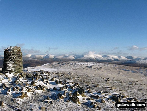 The Helvellyn and Fairfield Massif from Dale Head (Newlands)