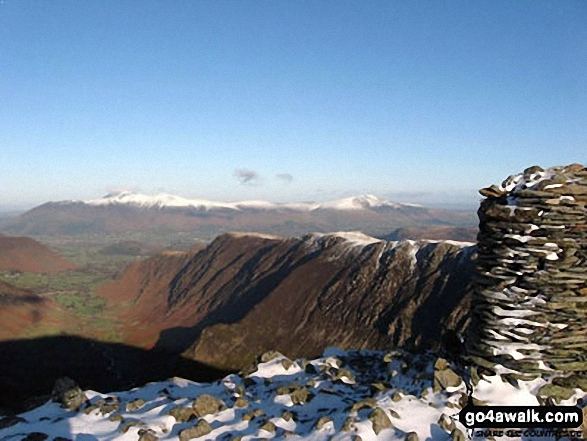 Skiddaw and Blencathra from Dale Head (Newlands)